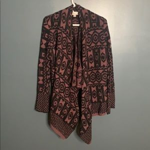 Knox Rose patterned open cardigan